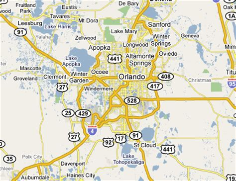 map of orlando florida and surrounding cities greater orlando web design development firms on the firm