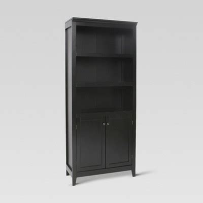 carson  shelf bookcase  doors black threshold
