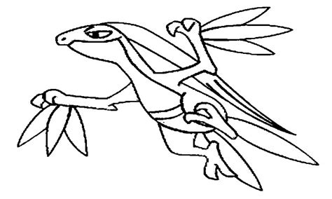 pokemon coloring pages grovyle pokemon grovyle coloring pages drawings grig3 org