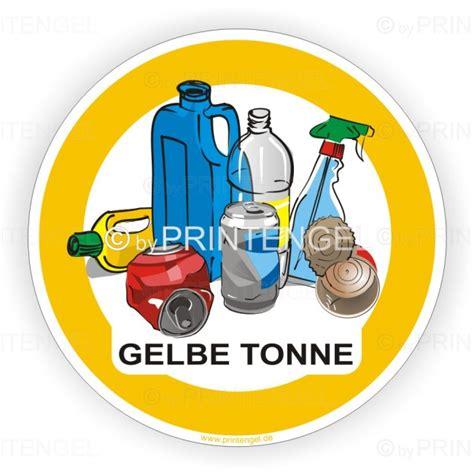 Abfall Aufkleber Lkw by Gelbe Tonne Recycling Aufkleber F 252 R Abfalltrennung