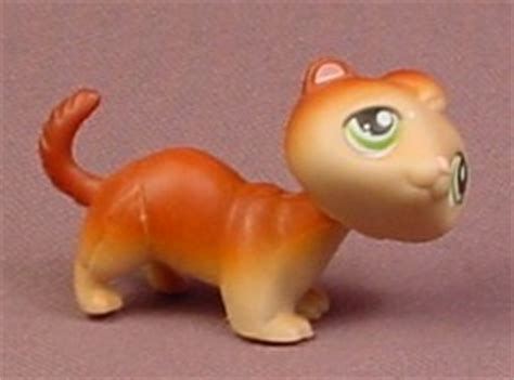 Pet Shop Singles A Ferret littlest pet shop 289 orange brown ferret with green