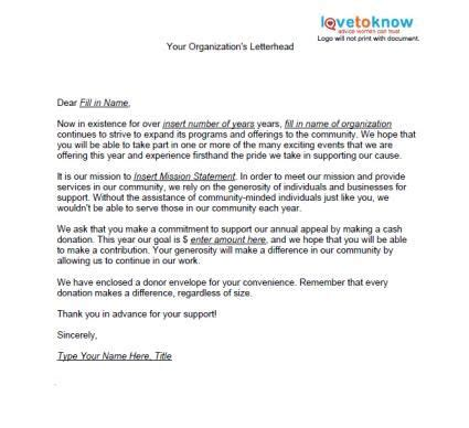 charity appeal letter sles of non profit fundraising letters fundraising