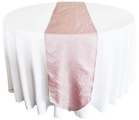 blush pink crushed crinkle taffeta table runners