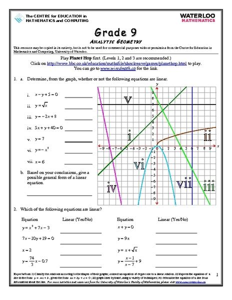 Analytic Geometry Grade 10 Worksheets all worksheets 187 analytic geometry grade 10 worksheets