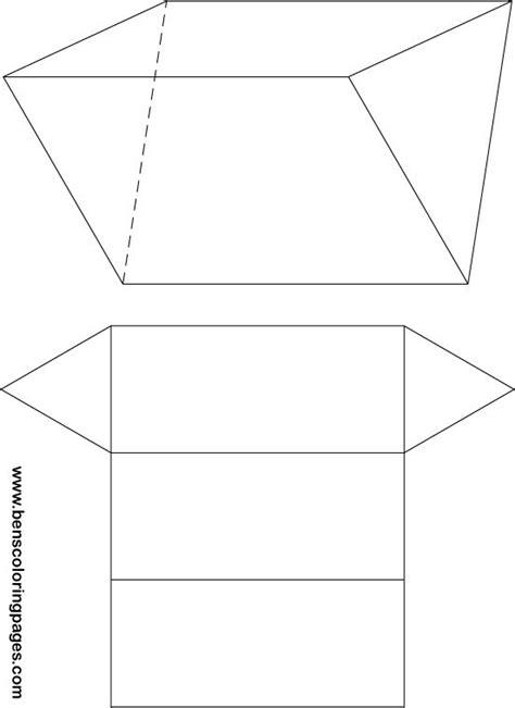 net pattern of triangular prism triangular prism net