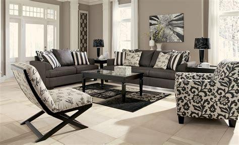 levon charcoal living room set  ashley  coleman furniture
