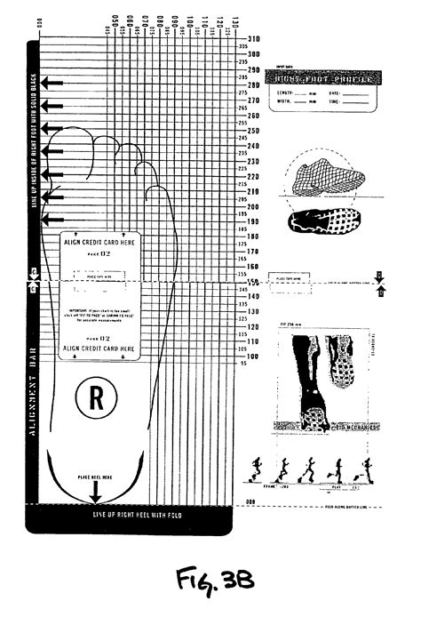 shoe size chart brannock patent us6879945 system and method for sizing footwear