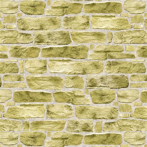 Zc Wallpaper Sticker Brown Brick Texture golden light green vintage brick self adhesive wallpapers