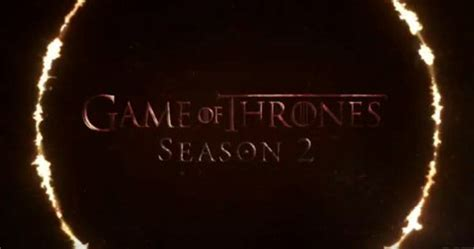 Of Thrones Logo Casing of thrones season 2 teaser trailer from boardwalk