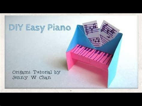 How To Make Girly Things Out Of Paper - diy easy piano origami tutorial paper