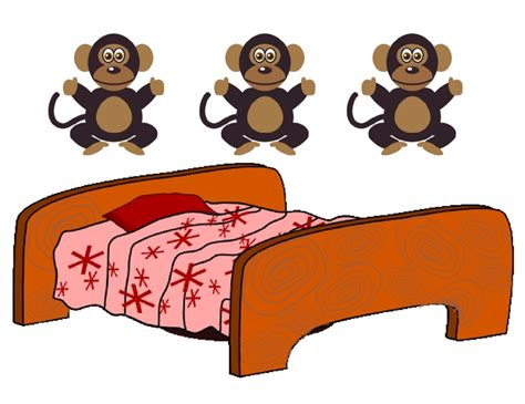 monkeys on the bed five little monkeys jumping on a bed is a favorite fingerplay for preschoolers to