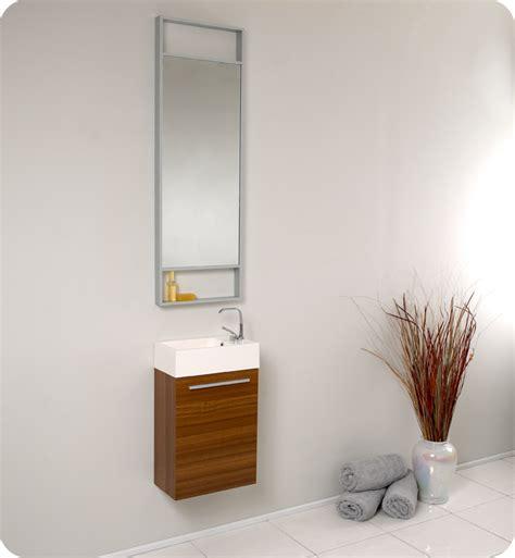 fresca pulito small teak modern bathroom vanity
