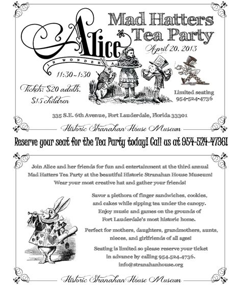 Mad Hatter Tea Invitation Template Free mad hatter tea invitations theruntime