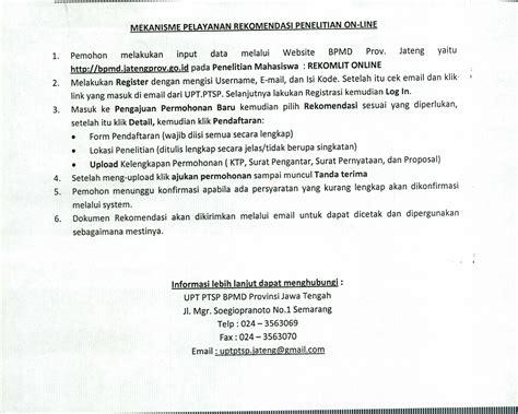 format surat pernyataan gubernur pengajuan nuptk mekanisme pendaftaran permohonan rekomendasi penelitian
