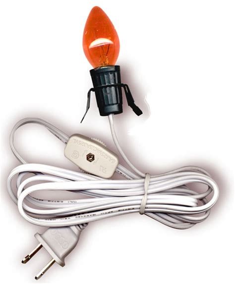 christmas light socket cord l cord sets for ceramic houses figurines accessories national artcraft