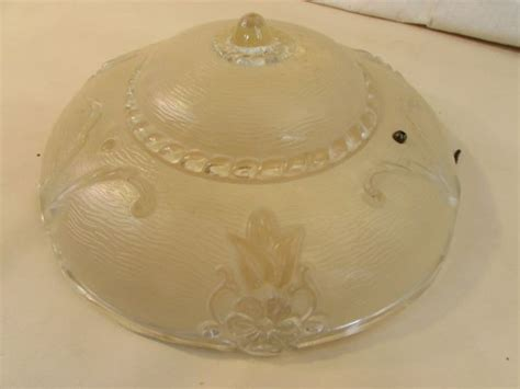 lot detail beautiful vintage glass ceiling light cover