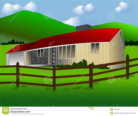 Economical House Plans To Build the ranch house stock image image 1904521