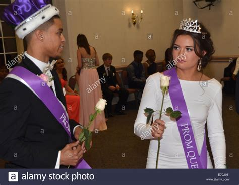 high school prom dance king and queen high school prom king and prom queen at a school prom