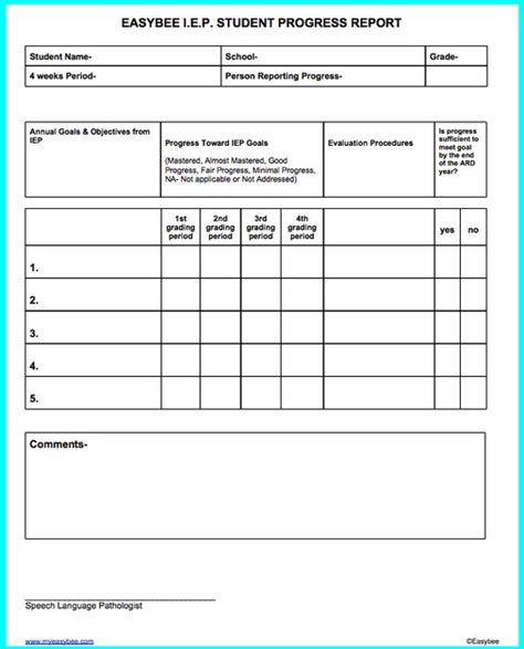 iep report sle iep progress report template 28 images student essay