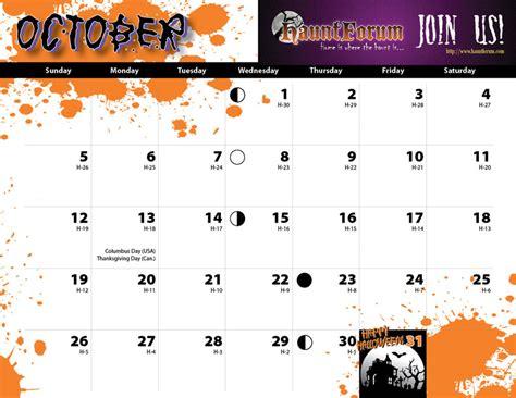 printable calendar 2015 halloween 5 best images of 2015 calendar printable october halloween