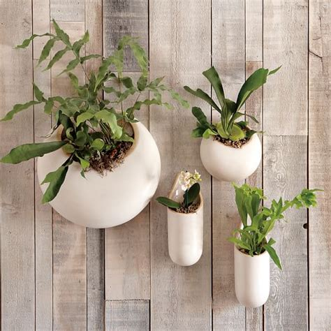 ceramic wall planter shane powers ceramic wall planters west elm