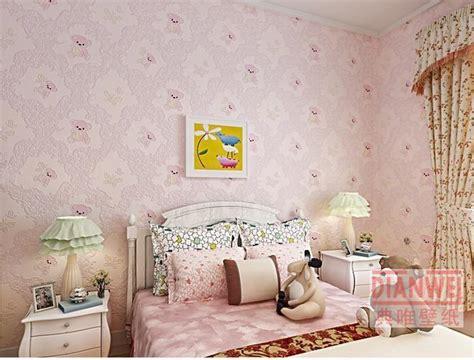 teddy bear children  wallpaper rolls pink  blue