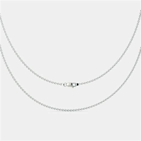 white gold cable chain bluestonecom