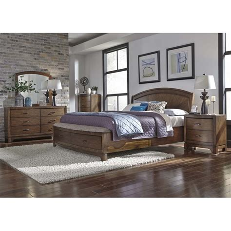 Liberty King Bedroom Set by Liberty Furniture Avalon Iii 5 King Panel Storage