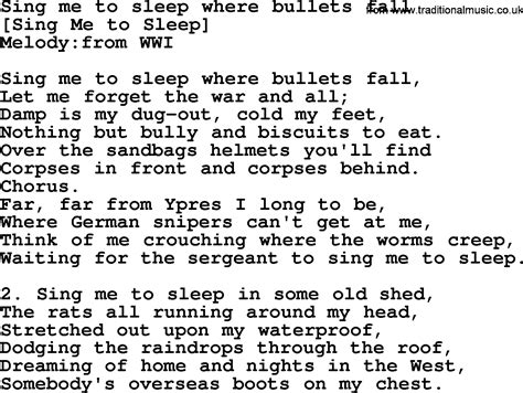 song to sing song lyrics for sing me to sleep where bullets