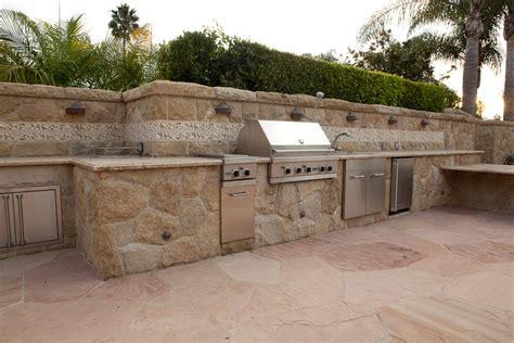 backyard kitchens built in backyard kitchens in santa barbara built n barbeque