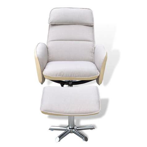 tv armchair home tv armchair adjustable recliner with foot stool cream