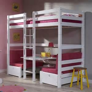 hochbett mit sofa drunter massivholz hochbett lachar mit sitzecke wohnen de