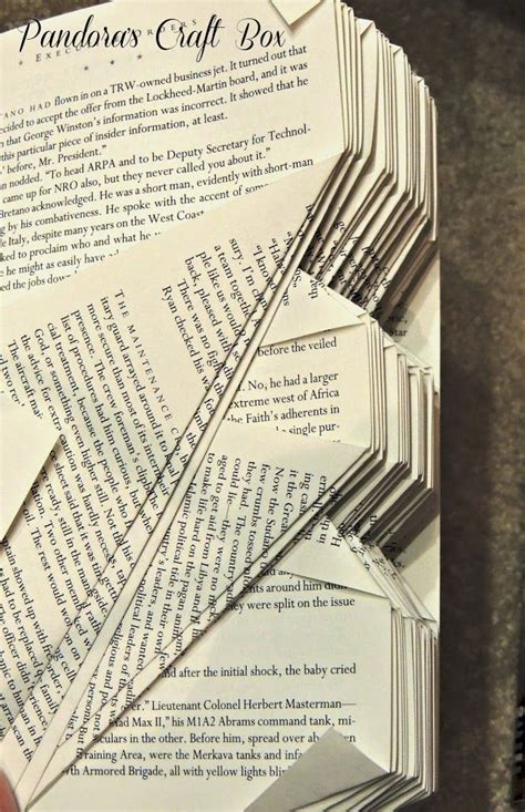 Book Origami Tutorial - 17 best images about recycling books folded books