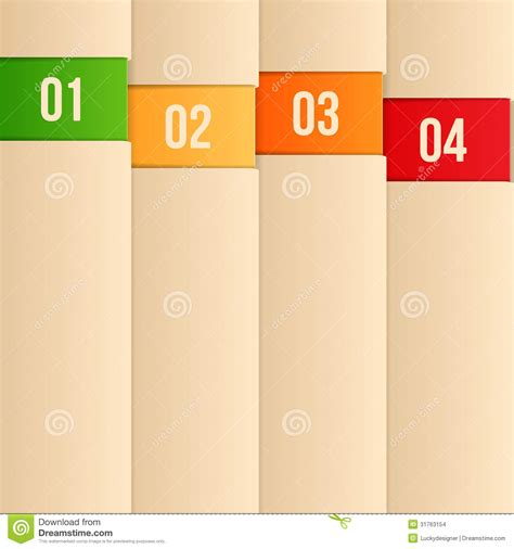 layout design in vector design template for infographics numbered banners web