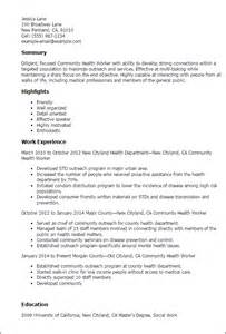 Community Development Worker Cover Letter by Professional Community Health Worker Templates To Showcase Your Talent Myperfectresume