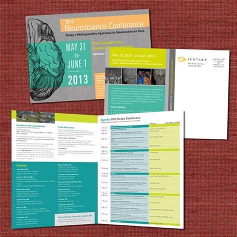 Sentara Neuroscience Conference Collateral Design Pinterest Brochure Design Design And Program Booklet Design Template