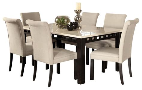 standard furniture gateway white 8 dining room set