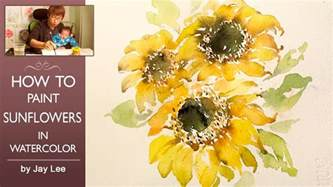 Paintings Of Vases Of Flowers Lvl4 How To Paint Sunflowers In Watercolor Youtube