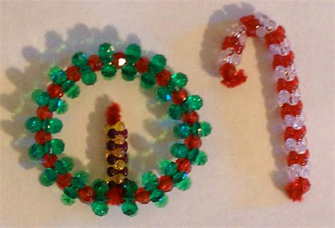tutorial beaded candy cane and wreath keep it thimble