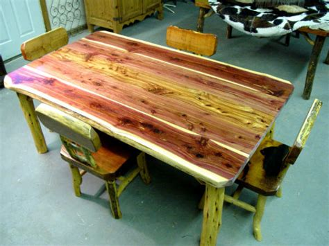 Red Dining Room by Custom Aromatic Red Cedar 6 Foot Dining Table By
