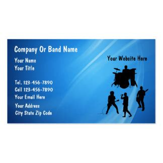 band cards rock band business cards templates zazzle
