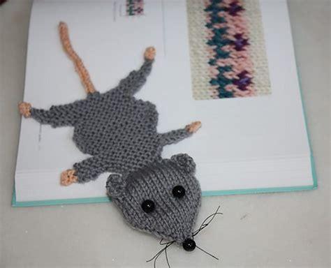 knitting pattern rat squashed rat knitted bookmark pattern by amalia samios