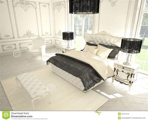 classic nordic interior styling indecora interior of a classic style bedroom in luxury stock photo