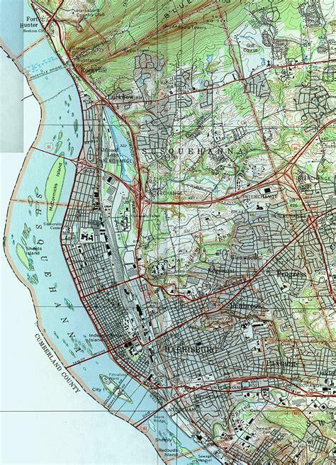 map  harrisburg pa area  travel information