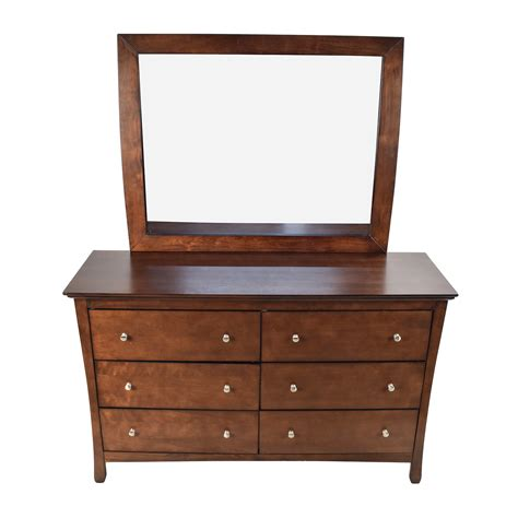 Large Dresser 57 Large Brown Wood Dresser With Mirror Storage