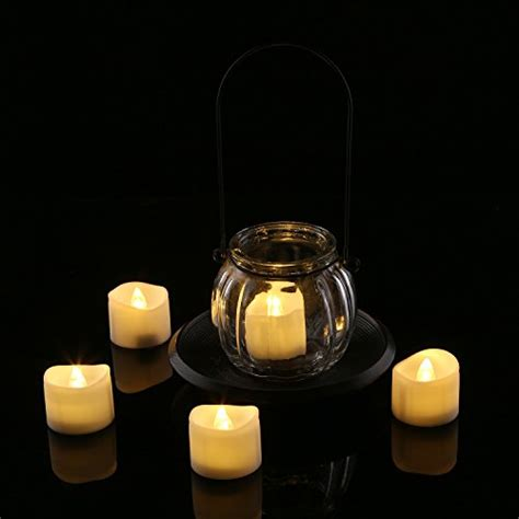 Homemory Battery Operated Led Tea Lights Pack Of Homemory Realistic And Bright Flickering Bulb Battery Operated Flameless Led Tea Light For