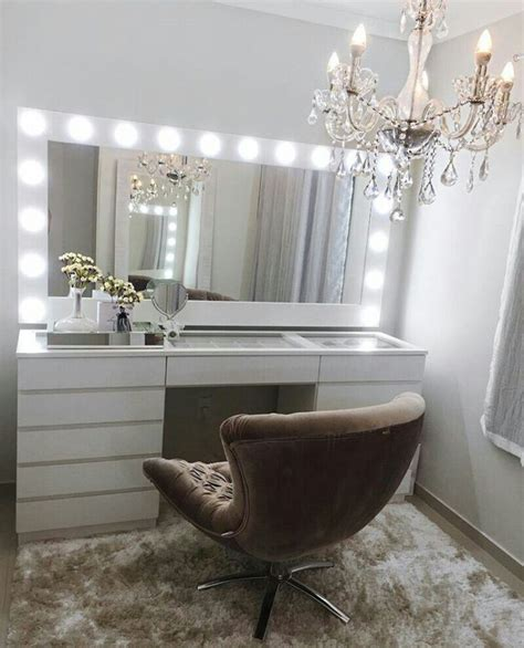 Grey Crystal Chandelier Beautiful Vanity Dressing Table With Lights Because Your