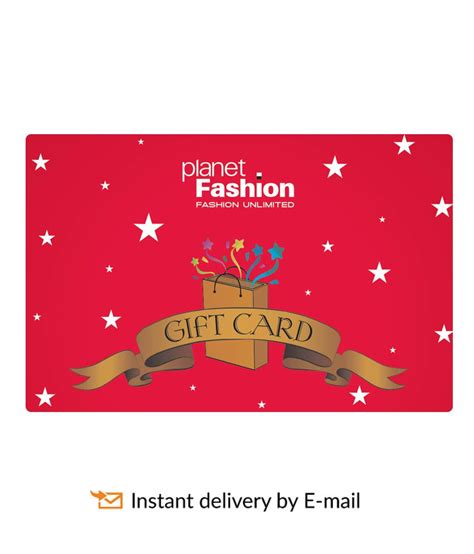 Gift Card Planet - planet fashion e gift card buy online on snapdeal