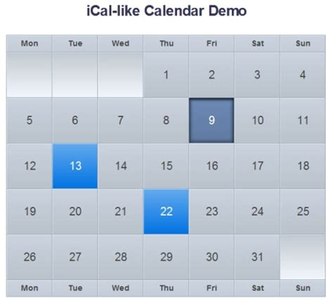 tutorial jquery template search results for html5 calendar exle calendar 2015