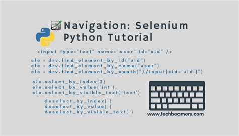 tutorial python selenium navigation how to navigate a web page in selenium python